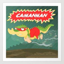 Caimanman Art Print