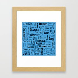 Just Dance - Blue Framed Art Print