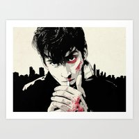 arctic monkeys Art Prints featuring AM by Your Music Design