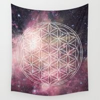 sacred geometry Wall Tapestries featuring Sacred Geometry Universe 3 by Gaudy