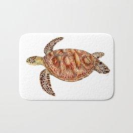 Green turtle Chelonia mydas Bath Mat
