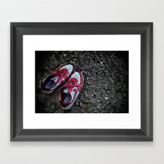 Literally Stepping Out Framed Art Print