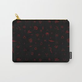 Red Rising Pattern Carry-All Pouch