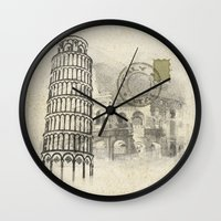 italy Wall Clocks featuring italy by Natasha79