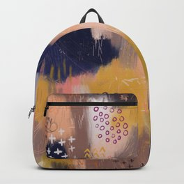 Vernal Abstract Painting Backpack