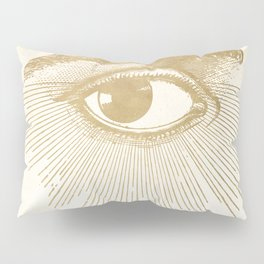 I See You. Vintage Gold Antique Paper Pillow Sham