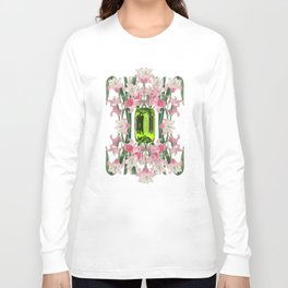 AUGUST/ Birth Stone & Flower Long Sleeve T-shirt