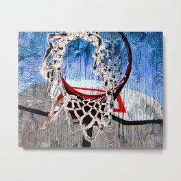 Basketball art print 170 Metal Print