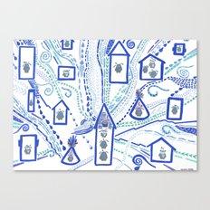 Rainy Day, Village Canvas Print