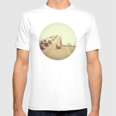 Fork in the Road MEDIUM Mens Fitted Tee White