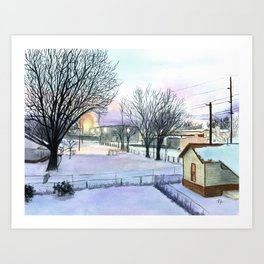 Backyard Ice Art Print