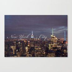 New York City Empire State Building at Night I Canvas Print