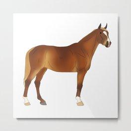 """Standing Flaxen Chestnut Stock Horse """"Jamie"""" Metal Print"""