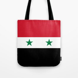Syrian flag - may PEACE prevail Tote Bag