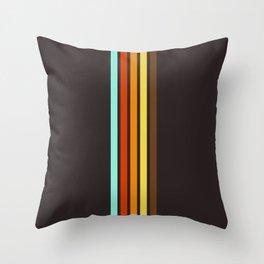 Five Colorful Retro Stripes 19 Throw Pillow