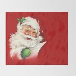 Vintage Santa Throw Blanket