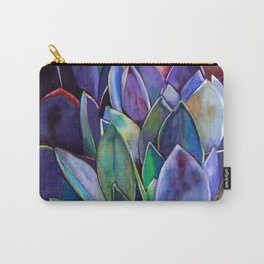Purple Agave Carry-All Pouch