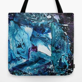 Faces in blue Tote Bag
