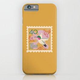 Hummingbird Postage Stamp iPhone Case