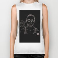 ryan gosling Biker Tanks featuring Hey Girl, The Gosling by Dear Colleen