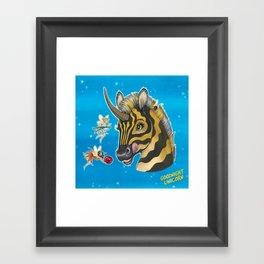 Goodnight Unicorn Zebra Framed Art Print