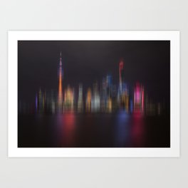 Shanghai Skyline III Art Print
