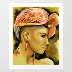 Flamingo beauty Art Print