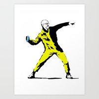 banksy Art Prints featuring Breaking Banksy by IF ONLY