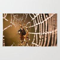 spider Area & Throw Rugs featuring Spider by Daniel Frymark