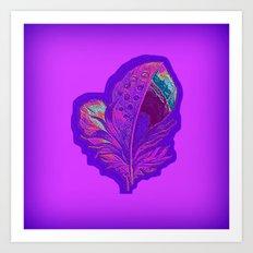 Lee's Purple Feather Art Print