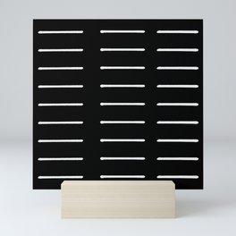 Organic / Black Mini Art Print