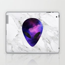 Galaxy Alien on Marble - tumblr trendy Laptop & iPad Skin