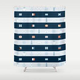 Nautical Theme Design Shower Curtain