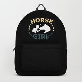 Horse Girl - Horse Horseback Riding Racing Cowgirl Backpack