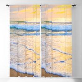 San Gregorio Beach Sunset Blackout Curtain