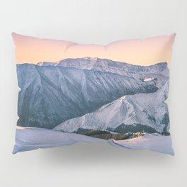 Winter Mountain View Pillow Sham