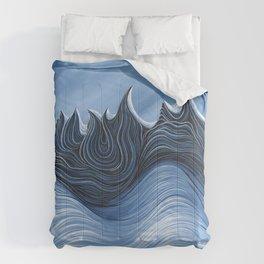 'Twisted Dents du Midi' Comforters