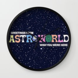 ASTROWORLD TRAVIS Wall Clock