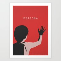 persona Art Prints featuring Persona by TwO Owls