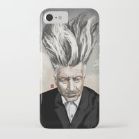 david lynch iPhone & iPod Cases featuring David Lynch by Khasis Lieb