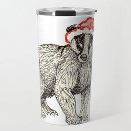 Christmas Honey Badger Travel Mug