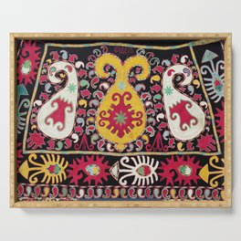 Lakai Tribal Nomad Antique Uzbekistan Horse Cover Print Serving Tray