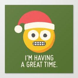 White Knuckle Christmas Canvas Print