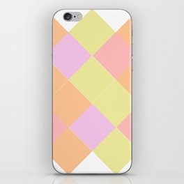 A summer wedding with triangles iPhone Skin