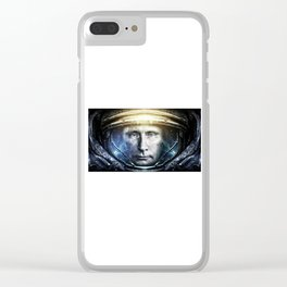 Space President Clear iPhone Case