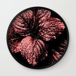 Glistening Garnet Wall Clock