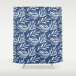 Tribal Husk - classic blue Shower Curtain