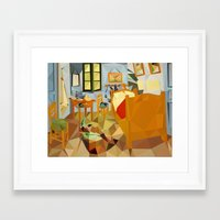 van gogh Framed Art Prints featuring van gogh by gazonula