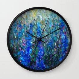 Secret Garden in Bloom Abstract  Wall Clock
