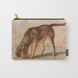 Vintage Bloodhound Dog Illustration (1890) Carry-All Pouch